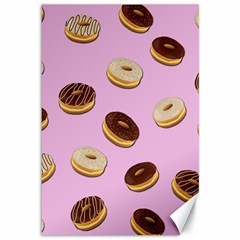 Donuts pattern - pink Canvas 12  x 18