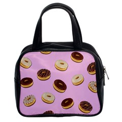 Donuts pattern - pink Classic Handbags (2 Sides)