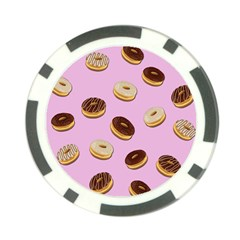 Donuts pattern - pink Poker Chip Card Guard (10 pack)