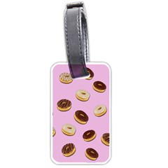 Donuts pattern - pink Luggage Tags (One Side)
