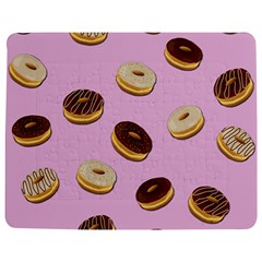 Donuts pattern - pink Jigsaw Puzzle Photo Stand (Rectangular)