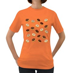 Donuts pattern Women s Dark T-Shirt