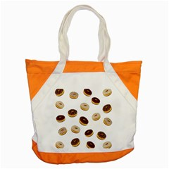 Donuts Pattern Accent Tote Bag