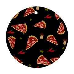Pizza slice patter Ornament (Round)