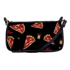 Pizza slice patter Shoulder Clutch Bags