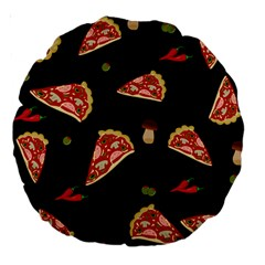 Pizza Slice Patter Large 18  Premium Round Cushions