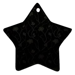 Dark Silvered Flower Star Ornament (two Sides)