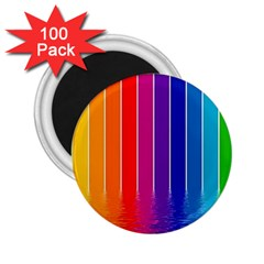Faded Rainbow  2 25  Magnets (100 Pack)