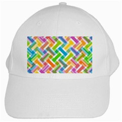Abstract Pattern Colorful Wallpaper White Cap