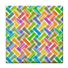 Abstract Pattern Colorful Wallpaper Tile Coasters