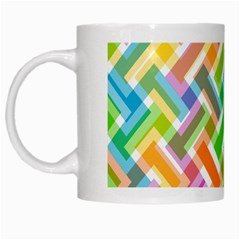 Abstract Pattern Colorful Wallpaper White Mugs