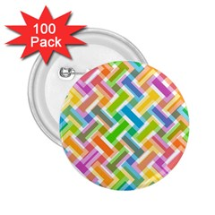 Abstract Pattern Colorful Wallpaper 2 25  Buttons (100 Pack)