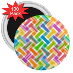 Abstract Pattern Colorful Wallpaper 3  Magnets (100 Pack)