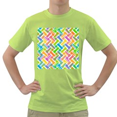 Abstract Pattern Colorful Wallpaper Green T Shirt
