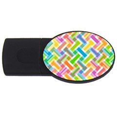 Abstract Pattern Colorful Wallpaper Usb Flash Drive Oval (2 Gb)