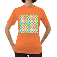 Abstract Pattern Colorful Wallpaper Women s Dark T Shirt