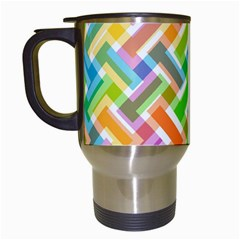 Abstract Pattern Colorful Wallpaper Travel Mugs (white)