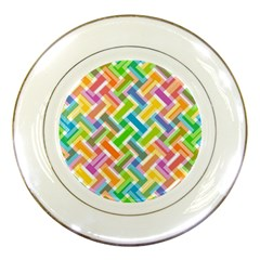 Abstract Pattern Colorful Wallpaper Porcelain Plates