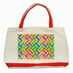 Abstract Pattern Colorful Wallpaper Classic Tote Bag (red)