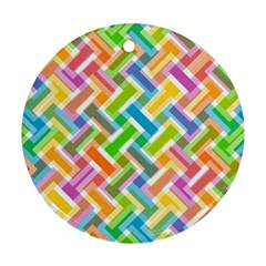 Abstract Pattern Colorful Wallpaper Round Ornament (two Sides)