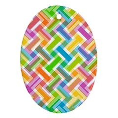 Abstract Pattern Colorful Wallpaper Oval Ornament (two Sides)