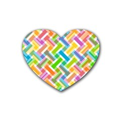 Abstract Pattern Colorful Wallpaper Rubber Coaster (heart)