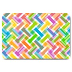 Abstract Pattern Colorful Wallpaper Large Doormat