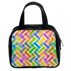 Abstract Pattern Colorful Wallpaper Classic Handbags (2 Sides)