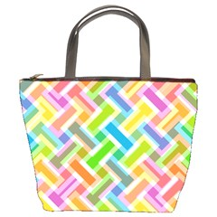 Abstract Pattern Colorful Wallpaper Bucket Bags