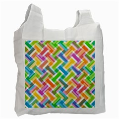 Abstract Pattern Colorful Wallpaper Recycle Bag (one Side)