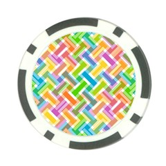 Abstract Pattern Colorful Wallpaper Poker Chip Card Guard (10 Pack)