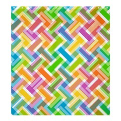 Abstract Pattern Colorful Wallpaper Shower Curtain 66  X 72  (large)