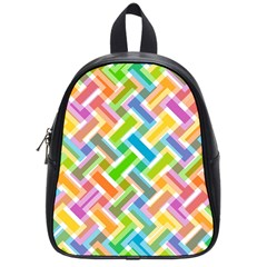 Abstract Pattern Colorful Wallpaper School Bags (small)