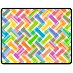 Abstract Pattern Colorful Wallpaper Fleece Blanket (medium)