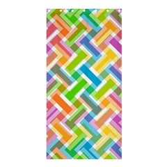 Abstract Pattern Colorful Wallpaper Shower Curtain 36  X 72  (stall)