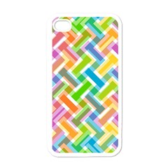 Abstract Pattern Colorful Wallpaper Apple Iphone 4 Case (white)