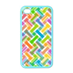Abstract Pattern Colorful Wallpaper Apple Iphone 4 Case (color)