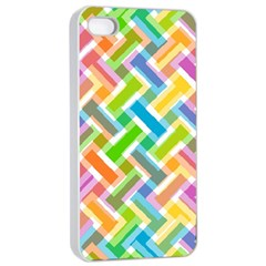 Abstract Pattern Colorful Wallpaper Apple Iphone 4/4s Seamless Case (white)