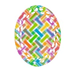Abstract Pattern Colorful Wallpaper Ornament (oval Filigree)