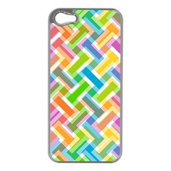 Abstract Pattern Colorful Wallpaper Apple Iphone 5 Case (silver)