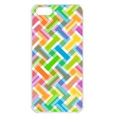 Abstract Pattern Colorful Wallpaper Apple Iphone 5 Seamless Case (white)