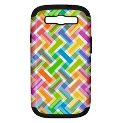 Abstract Pattern Colorful Wallpaper Samsung Galaxy S Iii Hardshell Case (pc+silicone)