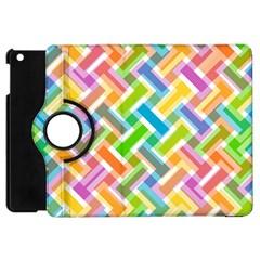 Abstract Pattern Colorful Wallpaper Apple iPad Mini Flip 360 Case