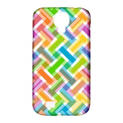 Abstract Pattern Colorful Wallpaper Samsung Galaxy S4 Classic Hardshell Case (pc+silicone)
