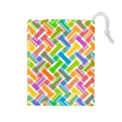 Abstract Pattern Colorful Wallpaper Drawstring Pouches (large)