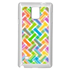 Abstract Pattern Colorful Wallpaper Samsung Galaxy Note 4 Case (white)
