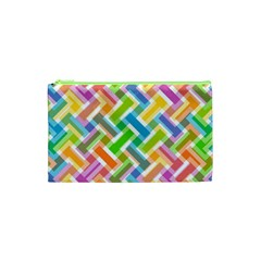 Abstract Pattern Colorful Wallpaper Cosmetic Bag (xs)
