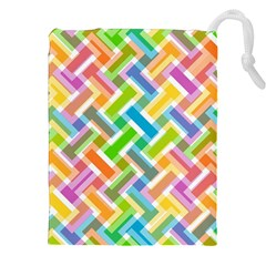 Abstract Pattern Colorful Wallpaper Drawstring Pouches (XXL)