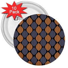 Abstract Seamless Pattern 3  Buttons (10 Pack)