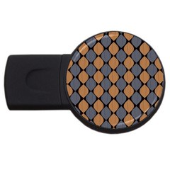 Abstract Seamless Pattern Usb Flash Drive Round (4 Gb)